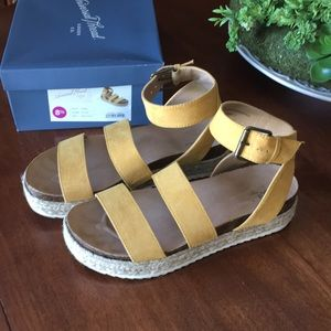Yellow espadrille sandals from Target